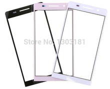 10pcs/lot black white pink Grad A Front Glass Lens Outer Lens Glass for Huawei Ascend P6 digitizer screen front outer glass lens