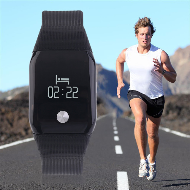 A88 Smart Intelligenct Heart Rate Fitness Bracelet Wristband LCD Screen Hot Sale