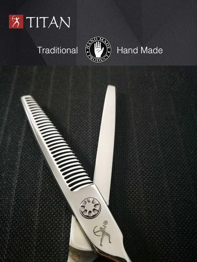 Titan tesoura desbaste de cabelo com parafuso de barba, bola vg10 aço frete grátis