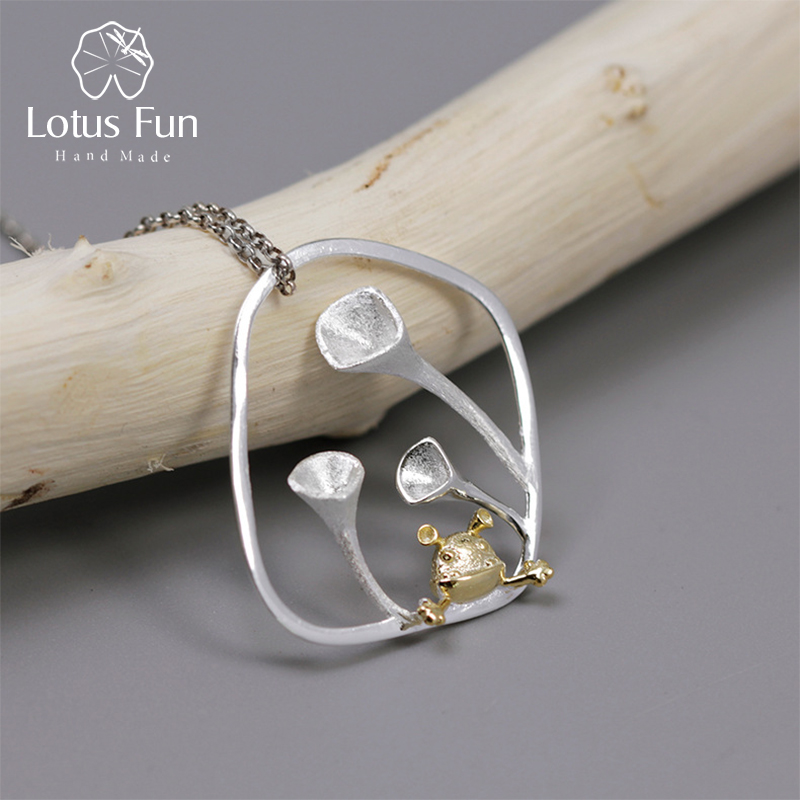 Real 925 Sterling Silver Handmade Designer Fine Jewelry Cute Little Elf in the Garden Pendant without Chain for Women