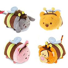 Tsum Tsum Mini Plush Bumble Bee Piglet Eeyore Tigger Bear Cute Smartphone Screen Cleaner Girls Kids Toys for Children Gifts(China)