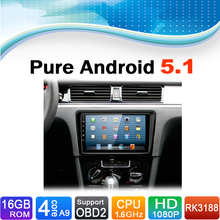 Pure Android 5.1.1 System Car DVD GPS Navigation System for Volkswagen VW Bora 2015