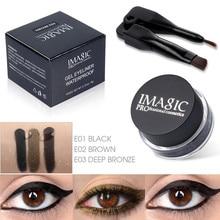 IMAGIC Long lasting Waterproof Glitter Gel Metalic Eyeliner Cream maquiagem profissional completa
