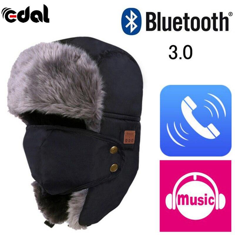 EDAL Technology Soft Warm Beanie Hat Wireless Bluetooth Smart Cap Headset ear-phone Speaker Mic Bluetooth Hat for Outdoor Sport edt bluetooth music beanie hat soft warm cap with stereo headphone headset speaker