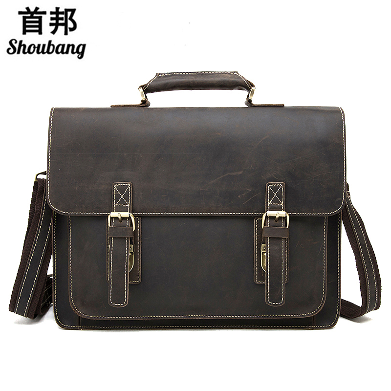 business men's leather briefcase handbag Totes vintage laptop bag crazy horse genuine leather men bag male shoulder bags mva business men s leather briefcase handbag totes vintage laptop bag crazy horse genuine leather men bag male shoulder bags