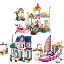 Princess Castle Building Blocks Girl Friend Models Assembly Bricks Brinquedos Compatible with logoe educational toys disney education windsor castle princess friend girl building blocks toys give your childrens the best christmas gifts