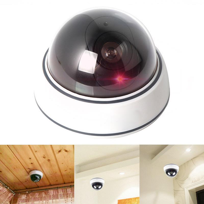Wireless Indoor Surveillance Fake Camera Dummy Flash Blinking LED Fake Dome Security Camera Home Security CCTV Cam owlcat emulational dummy surveillance camera fake camera security cctv videcam wireless indoor dome kamepa with blinking ir led