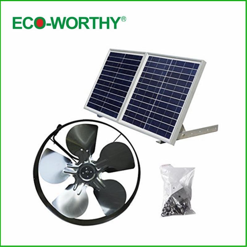 12vdc 65w 3000 Cfm Solar Powered Exhaust Fan Roof Vent Ventilator & 100w Poly Solar Panel Home Improvement Vents