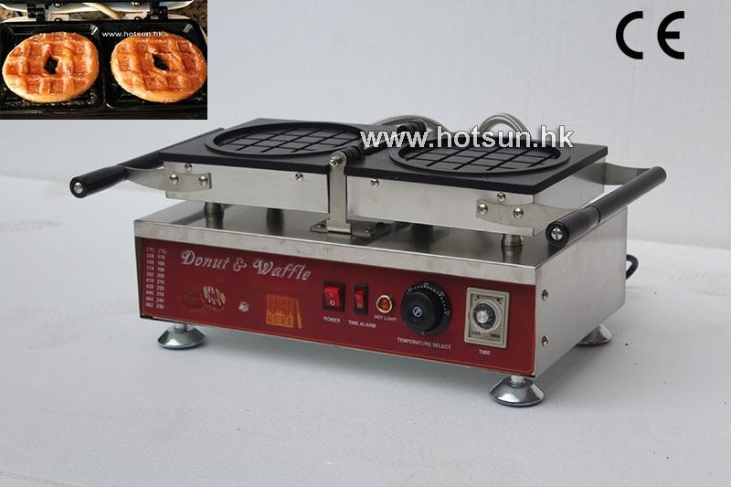 Free Shipping Commercial Electric Reversible Donut Waffle Krispy Kreme Waffle Iron Maker Machine