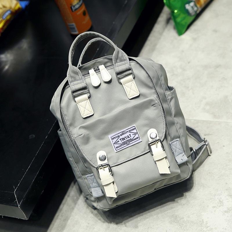 fresco mochila mulheres lona mochila Interior : Bolso Interior do Entalhe
