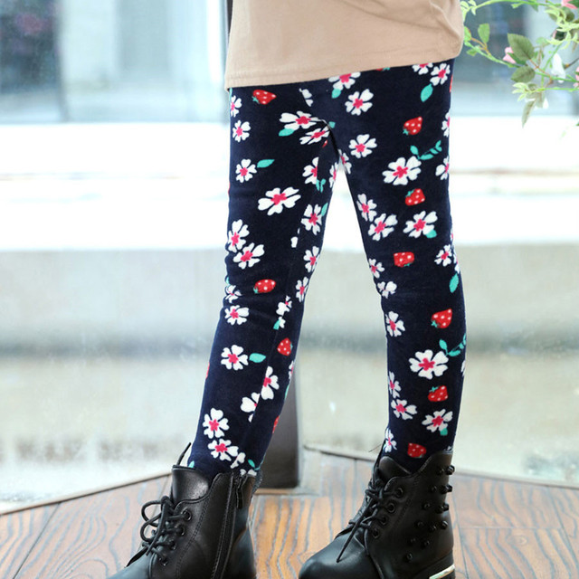 86da8aea5 2 6T children cartoon pants baby pants legins girls winter velvet ...