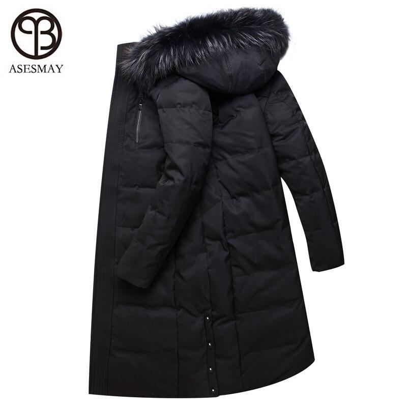 a3f73e289d656 Asesmay marca 2018 invierno nueva moda chaqueta de los hombres casuales con  capucha gruesa caliente x long para hombre Parkas chaquetas de Cuello de  piel en ...