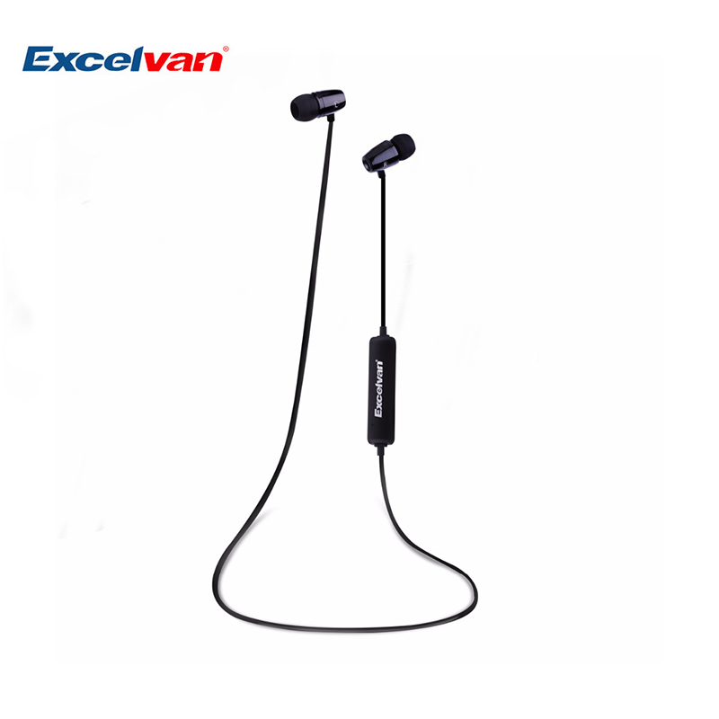 Original Excelvan O1 Wireless Bluetooth Earphone HiFi Stereo Sound Sports Headsets Sweatproof Hands-free Calls With Mic Headsets