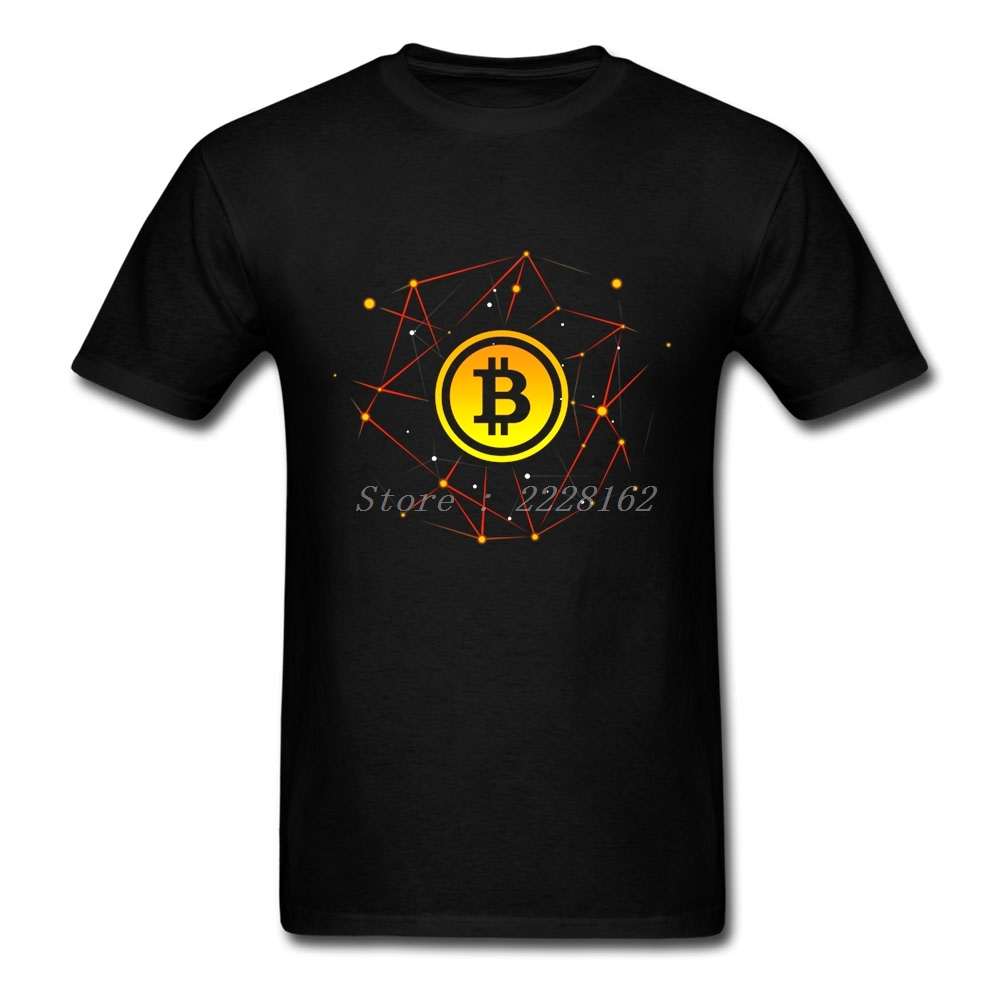 Mens Family DIY T-Shirt Adult Bitcoin Blockchain Tops Casual Clothing Adult T Shirts Plus Size
