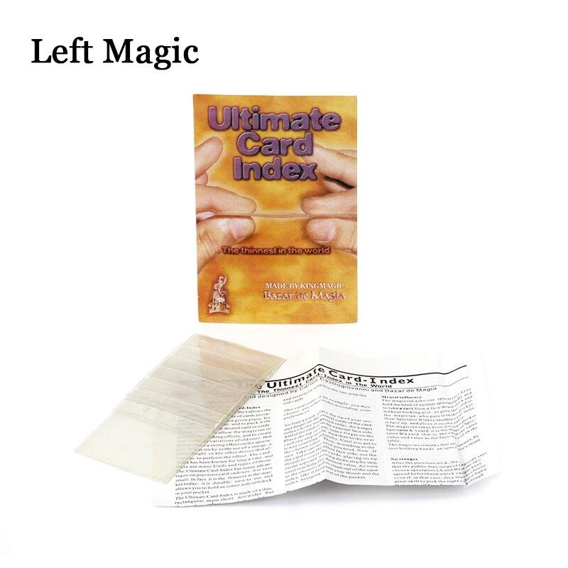 Ultimate Card Index Magic Tricks Card Prediction Magic Magician Close Up Illusion Gimmick Props Mentalism