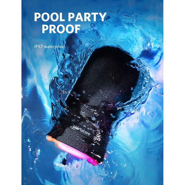 Portable Waterproof Bluetooth Speaker with All Round Sound