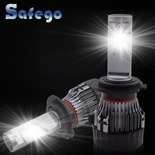 H7 H11 LED Car Headlight Kit - Safego H4 Hi/Lo H8 H9 9005 9006 60W 5000Lm High Quality Chips Super Bright Conversion