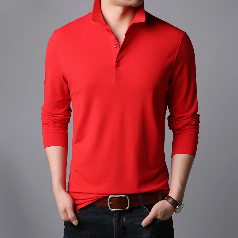 c78fcd4a9 2019 New Fashion Brand Designer Polo Shirt Men Korean Slim Fit Long Sleeve  Streetwear Cotton Poloshirt Casual Men's Clothing-in Polo from Men's  Clothing on ...
