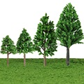 Newest !! 20pcs/Set 68mm Plastic Model Trees For Railroad House Park Street Layout Green landscape Scene Scenery High Quality