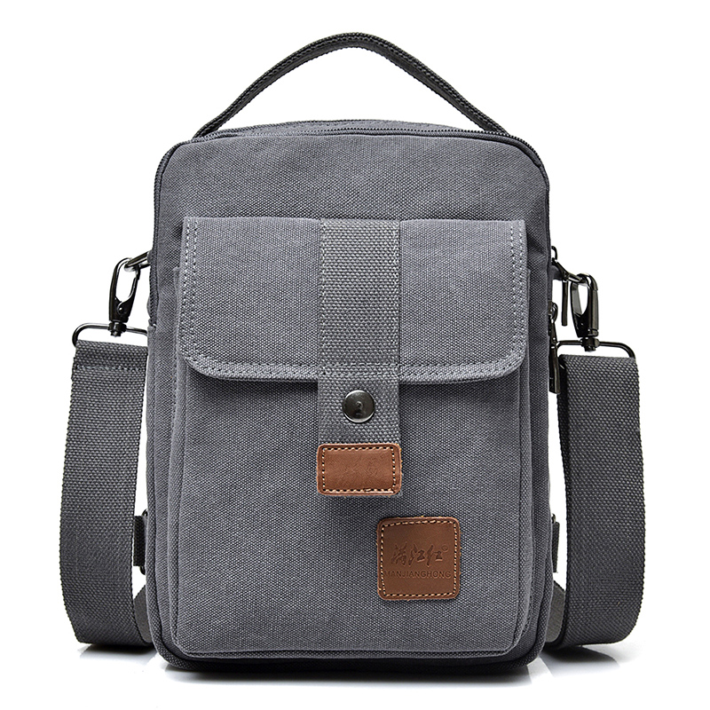 New Fashion Canvas Shoulder Bag Men Multi-functional Leisure Men Messenger Bag Crossbody Casual Sling Bag Men Male Handbag 1398 augur new men crossbody bag male vintage canvas men s shoulder bag military style high quality messenger bag casual travelling