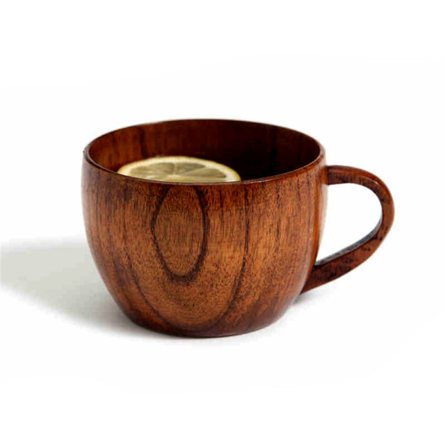 1pc HOMESTIA Natural Jujube Bar Wooden Cup Mugs With Handgrip Coffee Tea Milk Travel Wine Beer Mugs For Home Bar