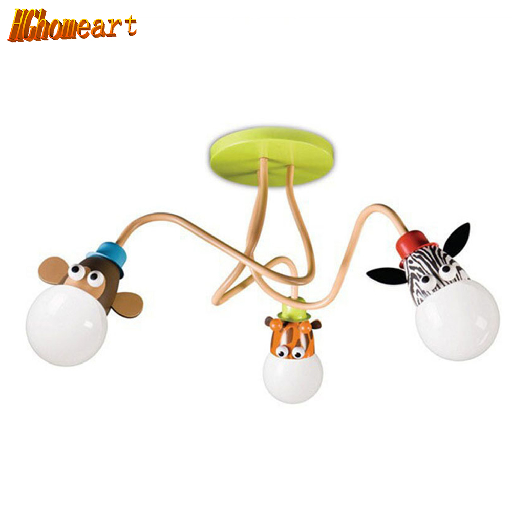 Hghomeart Modern Novelty Lovely Cartoon Animal Kids Room Child Room Led Pendant Light Girls/boys Bedroom Study Pendant Lighting