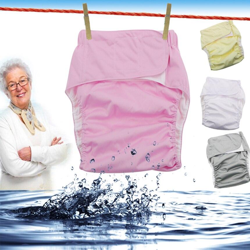 3 pz Riutilizzabile pannolini per adulti per gli anziani e disabili, rivestimento di TPU Impermeabile incontinenza pantaloni biancheria intima regolabile D20