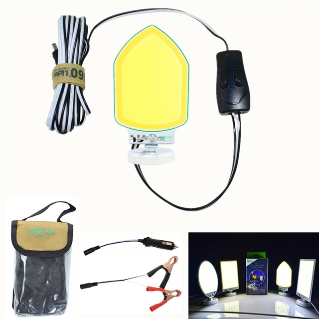 360light 120W LEDs COB camping outdoor lighting hiking lantern Emergency light for Road Trip Self-drive bivouac with magnet
