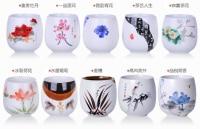 10Pcs/Set Creative Ceramic tea cup Drum coffee Cup ice crack teacup Furniture Accessories