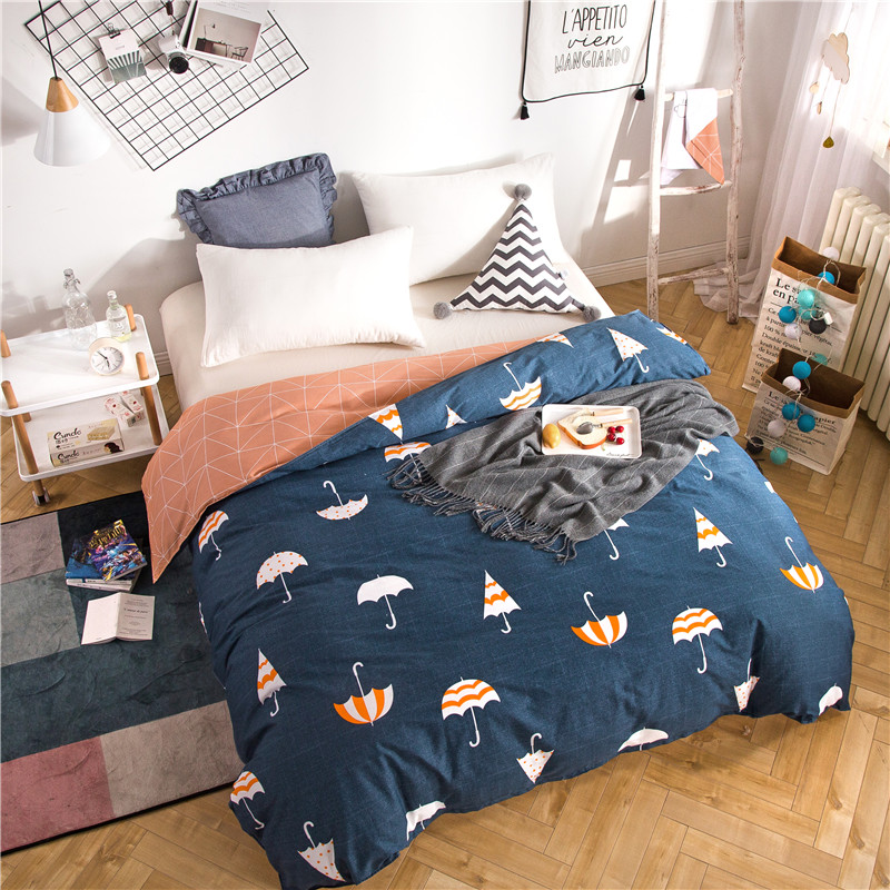 Nordic Style Duvet Cover With Zipper Cotton Quilt Cover