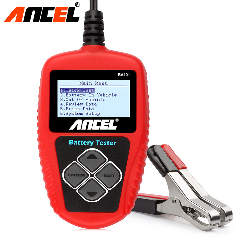 Original ANCEL 2017 Multi Languages 12V CCA Car Battery Tester Analyzer Ancel BA101 BST Automotive Cranking Charging  Бороскопы