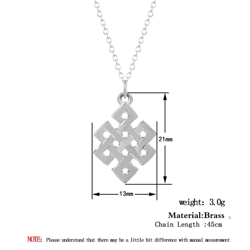 Infinito infinito eterno colar nó geométrico quadrado pingente colar para feminino meninas acessórios jóias de natal