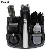 Kemei KM 600 Professional Hair Trimmer 6 In 1 Hair Clipper Shaver Sets Electric Shaver Beard Trimmer Hair Cutting Machine