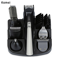 Kemei KM-600 Professional триммер для волос 6 в 1 машинка для стрижки волос бритвы наборы для ухода за кожей электробритва триммер для бороды машинка для...