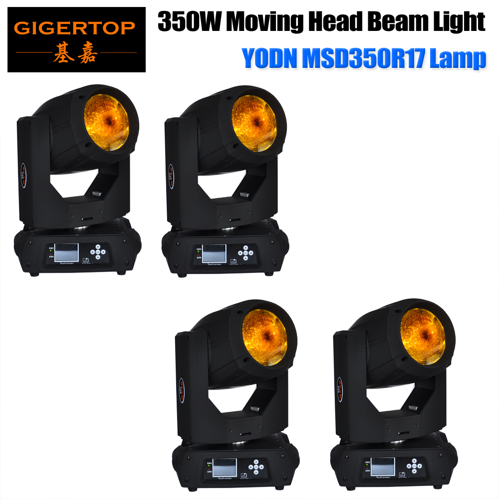 Freeshipping 4 Pack 350W 17R Beam Professional Moving Head Light Rainbow Color Filter For Pub / Bar/Stage Lighting Wooden Case