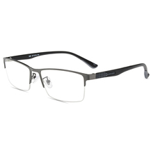 Mincl Ultra light business men s glasses square half frame metal reading glasses men s custom