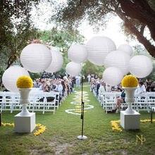 Optar por enviar da Espanha ou Bélgica para obter um serviço de entrega mais rápido.Nicro 10 pçs/set Branco Lanternas de Papel Redondas Lâmpada DIY Wedding Engagement Clássico Chinês Artesanato Decoração # LS01 Lampião