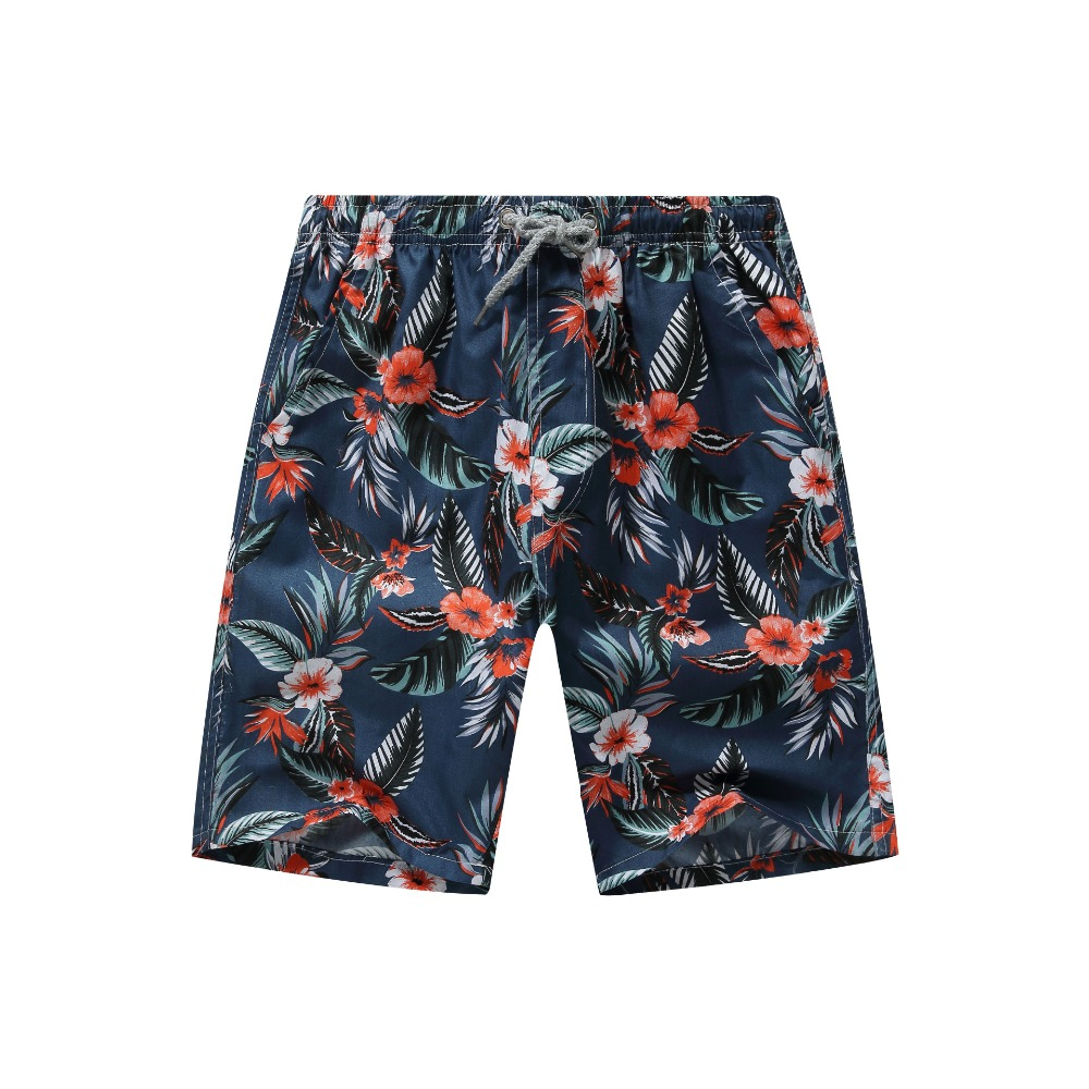 Men Printed Beach Shorts Quick Dry Running Shorts Swimwear Swimsuit Swim Trunks Beachwear Sports Shorts Board Shorts Plus Size