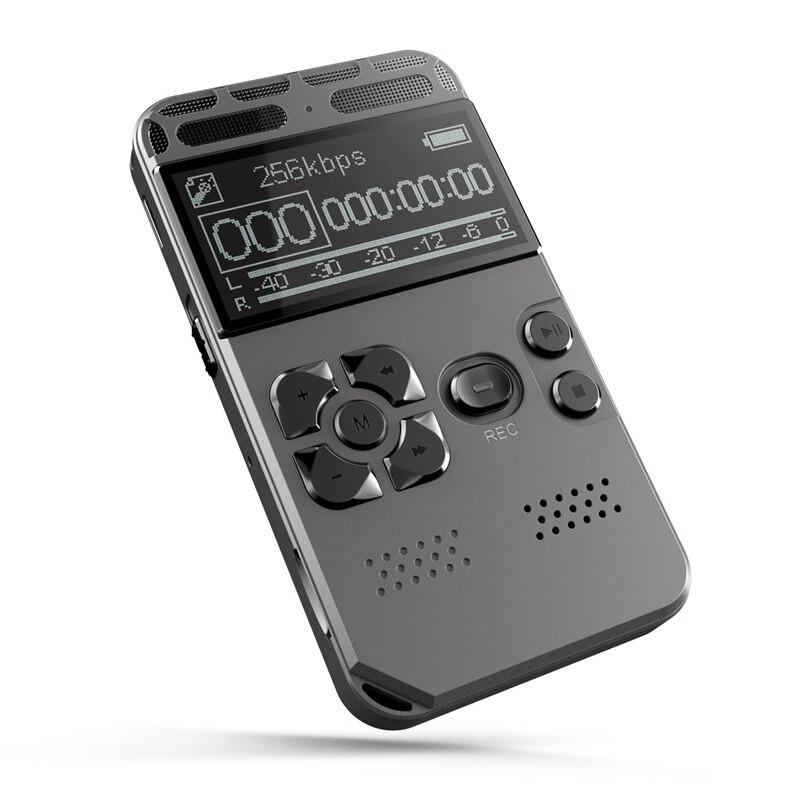 Enregistreur vocal numérique professionnel HD professionnel 80 heures enregistreur vocal numérique Dictaphone avec lecteur MP3 WAV