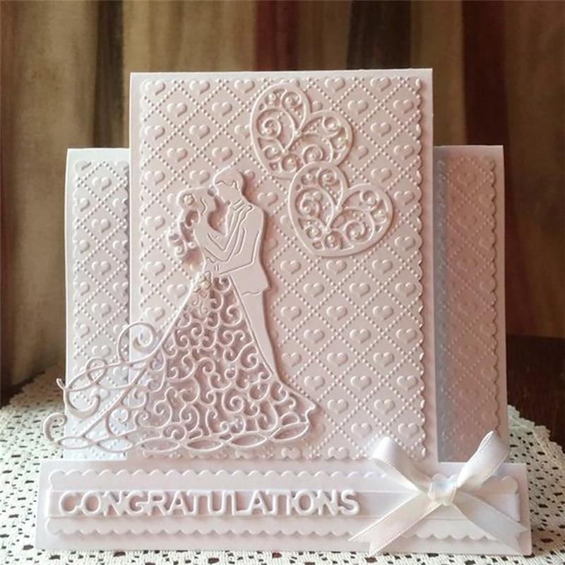Wedding Cards Ideas To Make: Naifumodo 86*85mm Wedding Couple Metal Cutting Dies