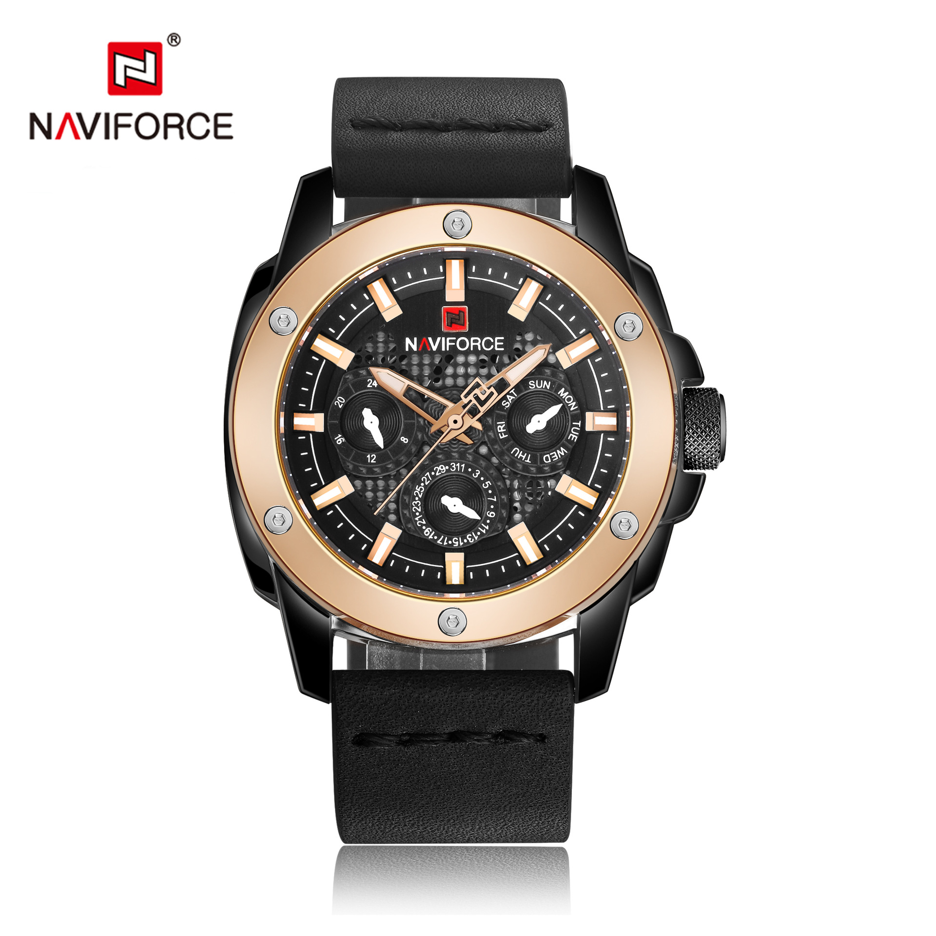 NAVIFORCE Men Sport Watches Men's Quartz Clock Man Army Military automatic Leather Wrist Watch Relogio Masculino montre homme цена
