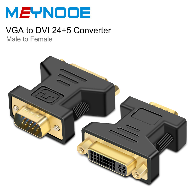 DVI d VGA Adapter VGA to DVI 24+5 Converter DVI VGA Extender Digital Audio Converter for HDTV Monitor DVI Cable Jack VGA Adapter