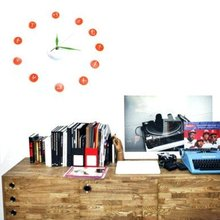 Hot Wall clock Home Decorate & Accents DIY Adhesive Clock Free shipping