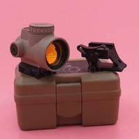 Gift box Tactical 1X25 MRO Reflex Style 2.0 MOA Adjustable Red Dot Sight+Scope Mount fit picatinny rail Black/Tan