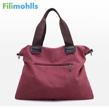 fashion solid color ladies shoulder Messenger bag 2018 spring new canvas handbags casual wild commuter bag S1578