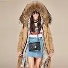 Модное белое теплое пальто с меховым воротником и капюшоном, Женская длинная куртка, новинка 2019, зимний свободный пуховик, плотное пальто, ж... - 2