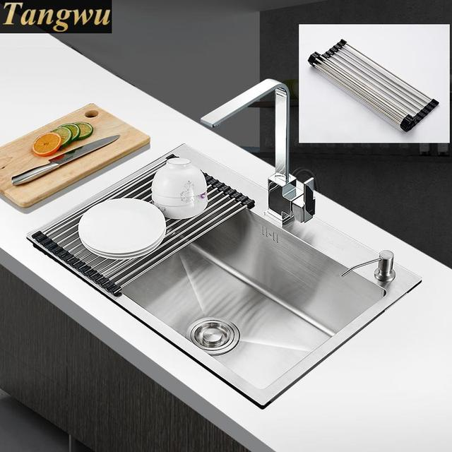 Superb Free Shipping Package Vegetable Washing Basin Single One Stretch Wash Dish  Pool Kitchen Sinks 68x45
