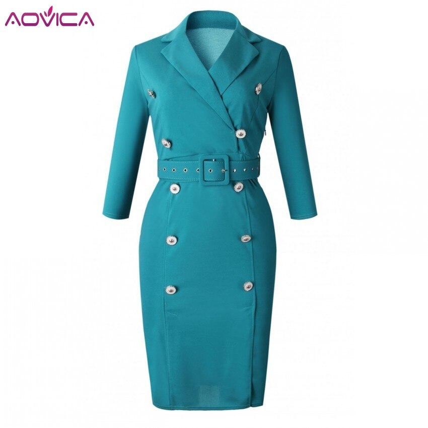 Платье женское, винтажное, с высокой талией и пуговицами, облегающее