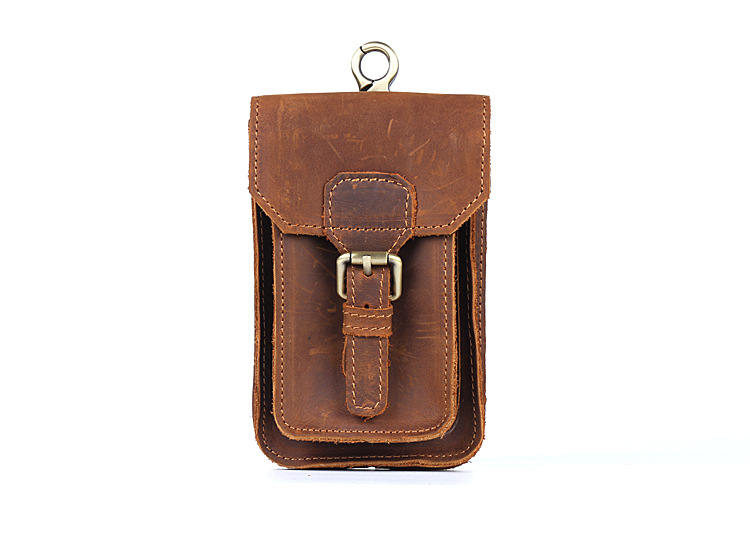Mens retro pockets leather suede leather casual small bagMens retro pockets leather suede leather casual small bag