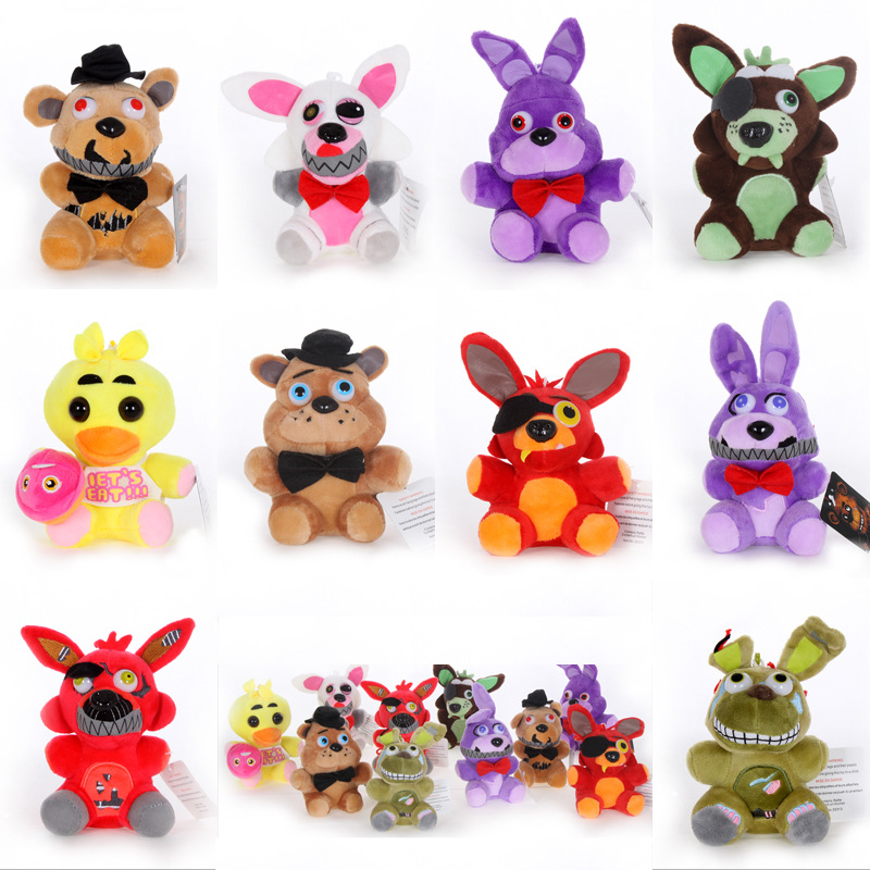 15CM Full Size Soft Plush Doll for Five Nights At Freddy 4 FNAF Child Toy Foxy Freddy Bear Bonnie Chica Keychain Plush Pendant toy story costumes adult